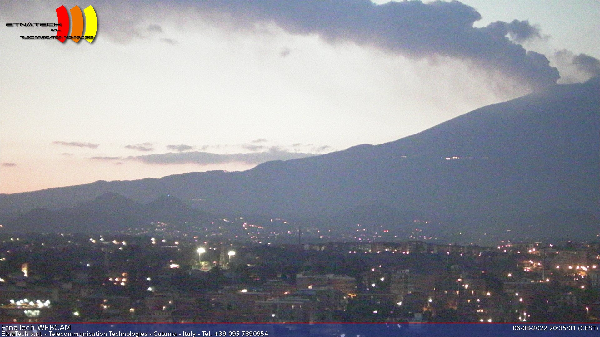 Catania webcam - Mount Etna webcam, Sicily, Catania