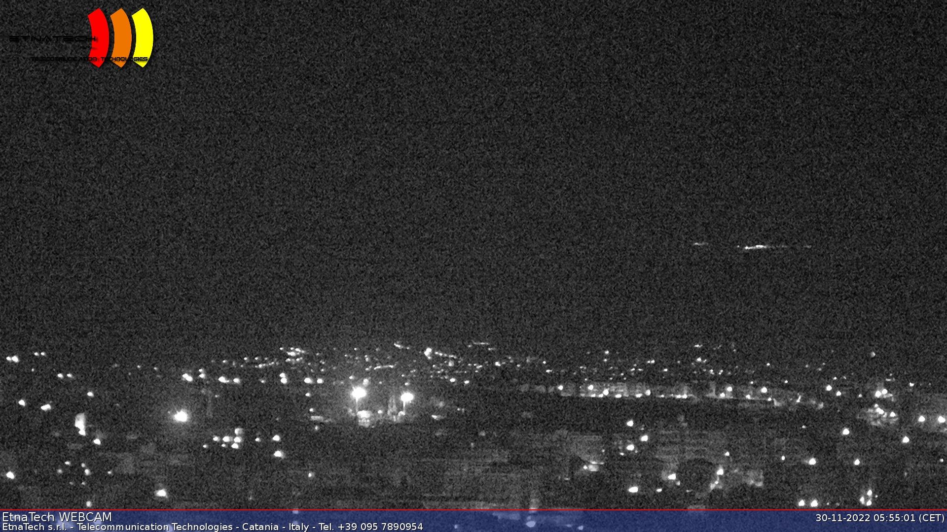 Онлайн веб камера Италия Сицилия вулкан Этна. Общий вид на вулкан